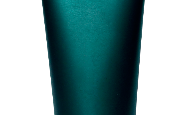 Blank green bottle, like one you'd find lotion in.